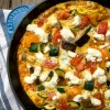 Ratatouille frittata recipe on eatlivetravelwrite.com