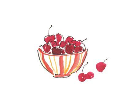 bowl of cherries from Dinner Chez Moi on eatlivetravelwrite.com