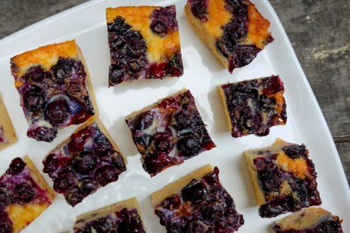 Dorie Greenspan Blueberry-Buttermilk Pie Bars for tuesdays with dorie on eatlivetravelwrite.com