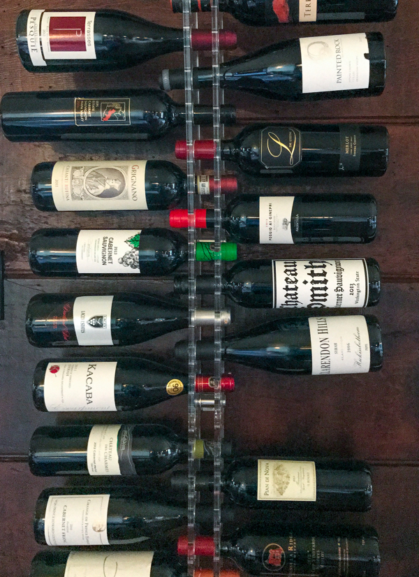 Wine rack at Mt Julian Viamede Resort on eatlivetravelwrite.com