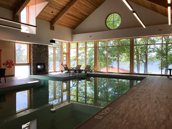 Indoor pool at Viamede Resort on eatlivetravelwrite.com