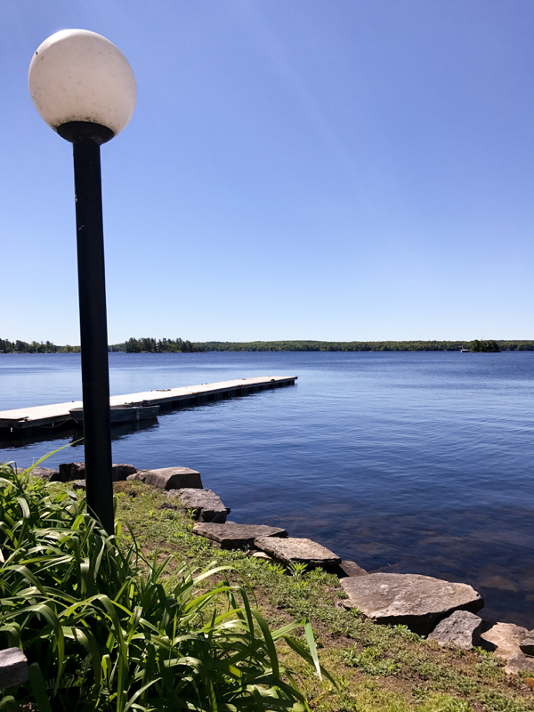View on Stony Lake at Viamede Resort on eatlivetravelwrite.com