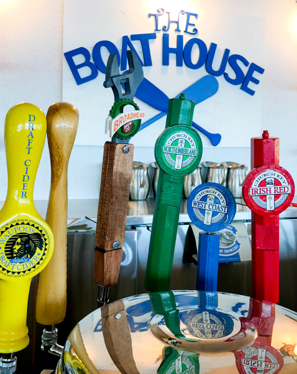 On tap at The BoatHouse at Viamede Resort on eatlivetravelwrite.com