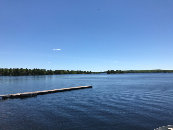 Midday view on Stony Lake at Viamede Resort on eatlivetravelwrite.com