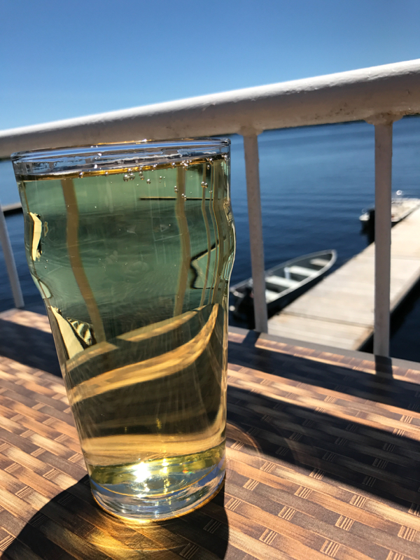 Midday cider at The Boat House at Viamede Resort on eatlivetravelwrite.com
