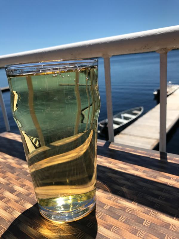 Midday cider at The Boat House at Viamede Resort on eatlivetravelwrite.com