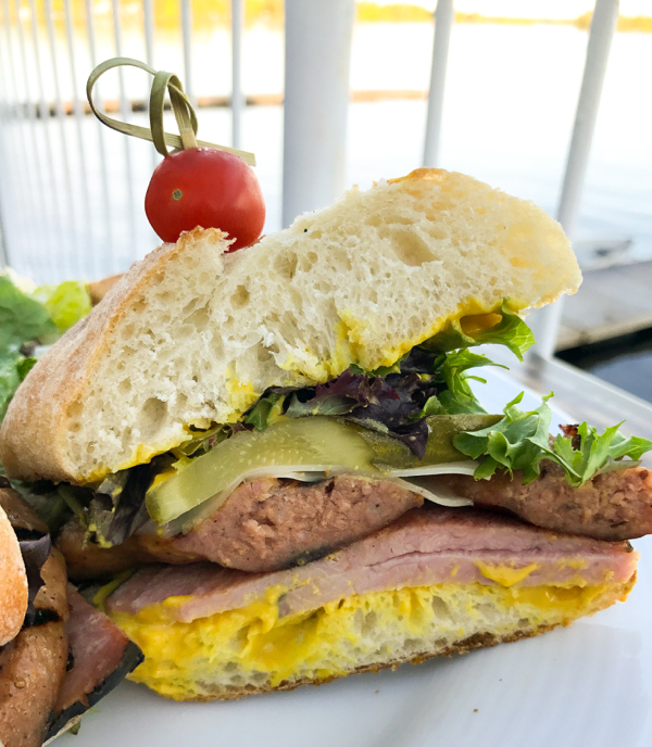 595 Bratwurst Cubano at The BoatHouse at Viamede Resort on eatlivetravelwrite.com