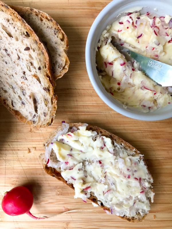 Radish butter on eatlivetravelwrite.com