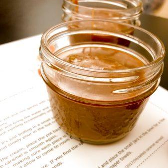 Salted caramel spread made by kids on eatlivetravelwrite.com