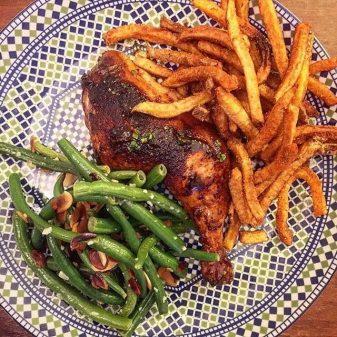 Barque BBQ chicken dinner
