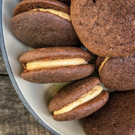 Dorie Greenspan Whoopie Pies from Baking Chez Moi on eatlivetravelwrite.com