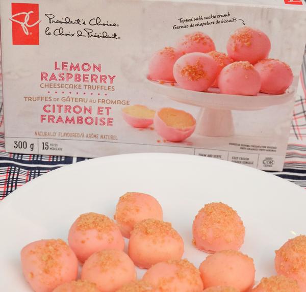 Presidents Choice Lemon Raspberry Cheesecake Truffles on eatlivetravelwrite.com