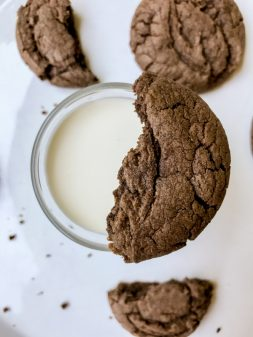 Cookies with a glass of milk on eatlivetravelwrite.com