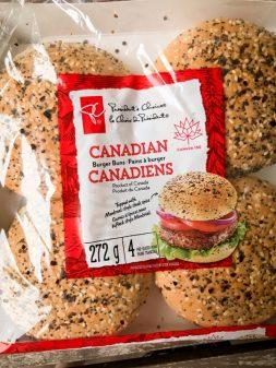 Presidents Choice Canadian burger buns on eatlivetravelwrite.com