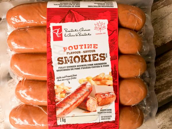 Presidents Choice poutine smokies on eatlivetravelwrite.com
