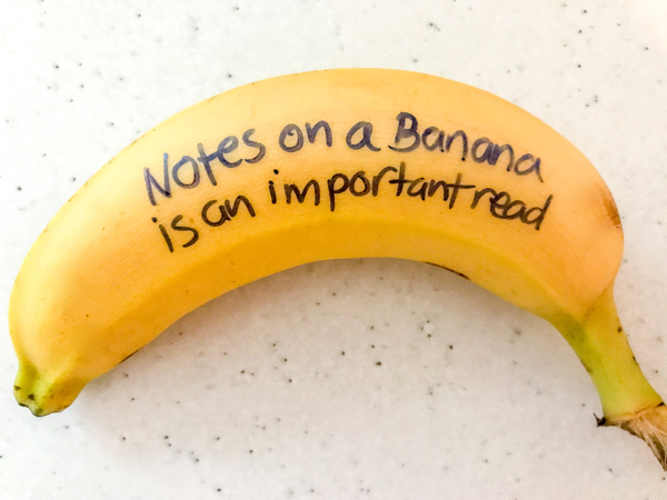 Notes on a Banana on eatlivetravelwrite.com