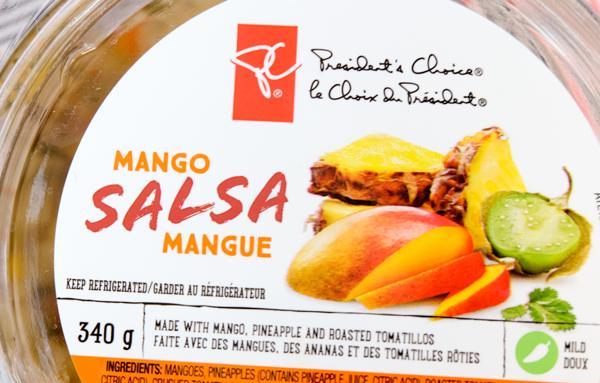 Presidents Choice Mango Salsa on eatlivetravelwrite.com