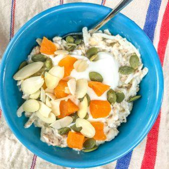 Bircher Muesli bowl on eatlivetravelwrite.com