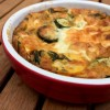 Zucchini and goat cheese clafoutis on eatlivetravelwrite.com