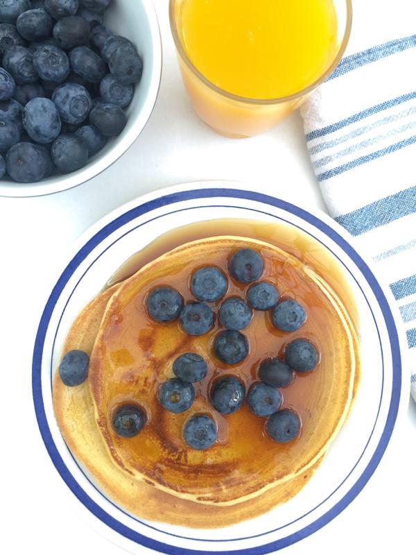 Ricotta pancakes and maple syrup on eatlivetravelwrite.com