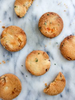 Dorie Greenspan Apricot Tarragon Rosemary Cookies on eatlivetravelwrite.com