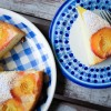 Upside Down peach cake with Nordica Smooth Plain and peaches on eatlivetravelwrite.com