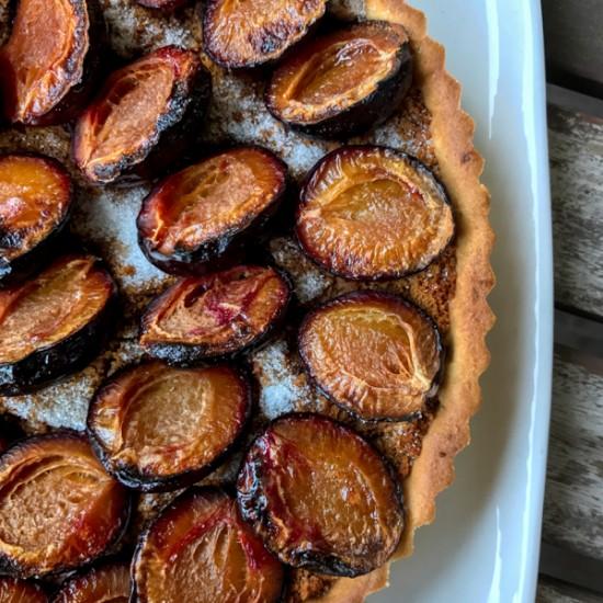 Simplest Plum Tart from Baking Chez Moi on eatlivetravelwrite.com