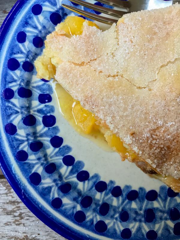 Baking Chez Moi Brown Butter Peach Tourte on eatlivetravelwrite.com