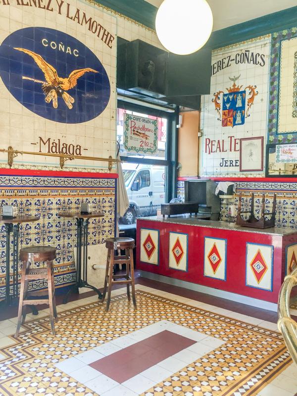 Interior Cafe Iruna Bilbao on eatlivetravelwrite.com