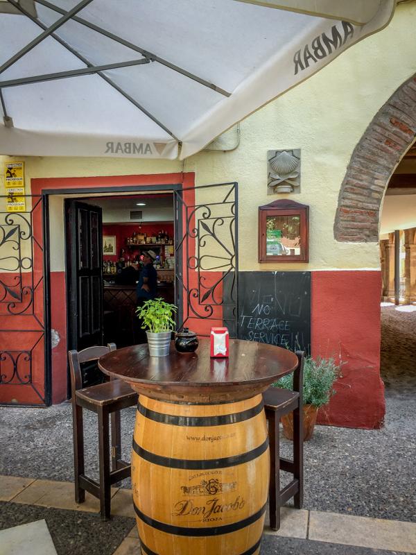 Bar Deportivo Navarrete exterior on Camino de Santiago on eatlivetravelwrite.com