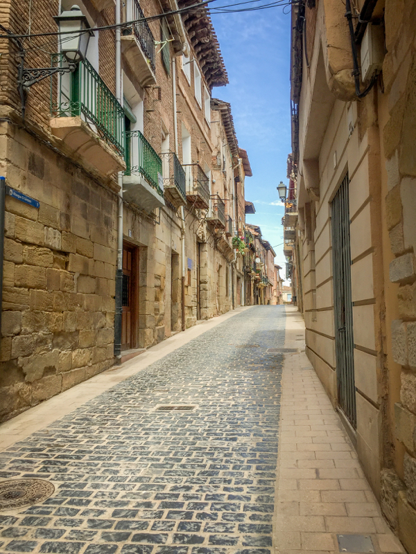 Streets of Navarrete on Camino de Santiago on eatlivetravelwrite.com