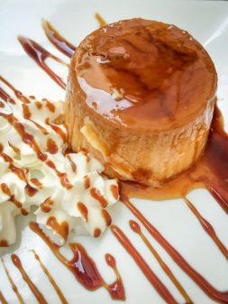 Pilgrim menu flan at Bar Deportivo Navarrete on Camino de Santiago on eatlivetravelwrite.com