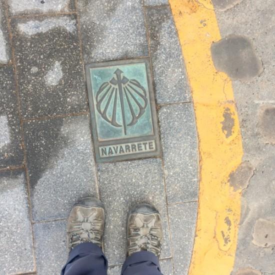 Starting the walk on the Camino de Santiago from Navarrete to Najera on eatlivetravelwrite.com