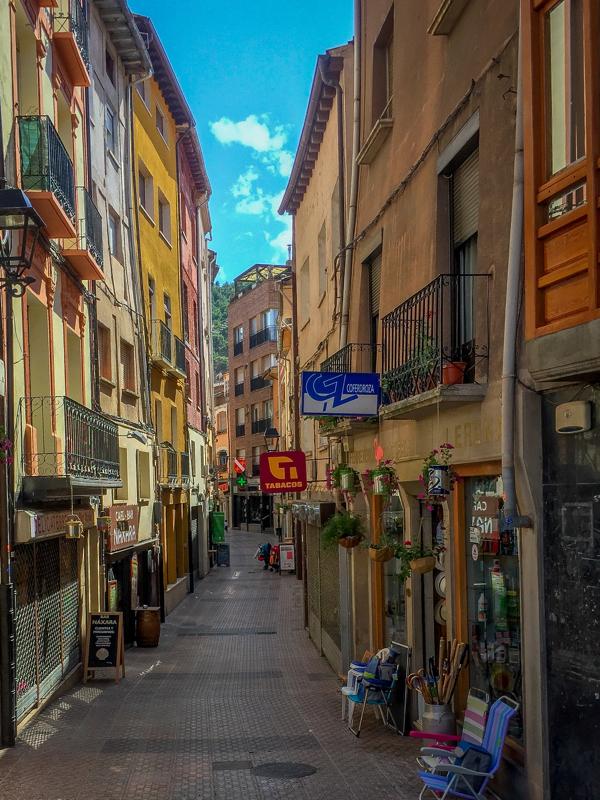 Najera streets on the Camino de Santiago on eatlivetravelwrite.com