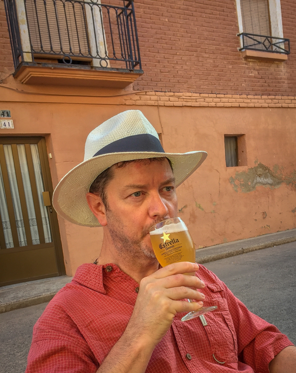 Drinking Cerveza con Limon in Azofra on the Camino de Santiago on eatlivetravelwrite.com