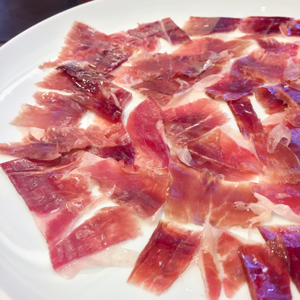 Jamon at Restaurant Los Caballeros in Santo Domingo de la Calzada on the Camino de Santiago on eatlivetravelwrite.com