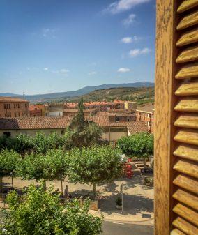 View from hotel in Navarrete on Camino de Santiago on eatlivetravelwrite.com