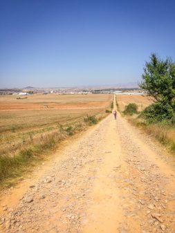 Santo Domingo de la Calzada in sight on the Camino de Santiago on eatlivetravelwrite.com