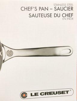 Le Creuset Stainless Steel Saucier on eatlivetravelwrite.com