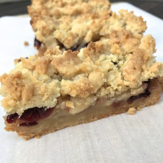 Tuesdays with Dorie Crumb-Topped Apple Bars on eatlivetravelwrite.com