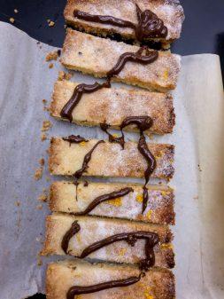Chocolate orange shortbread fingers from Jamie Oliver Quick and Easy Food on eatlivetravelwrite.com