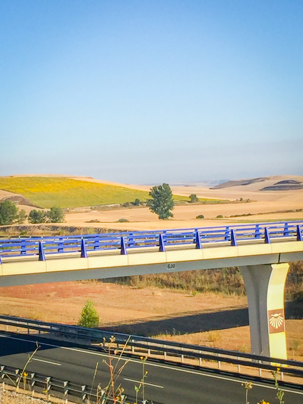 Pilgrim bridge on the Camino de SAntiago on eatlivetravelwrite.com