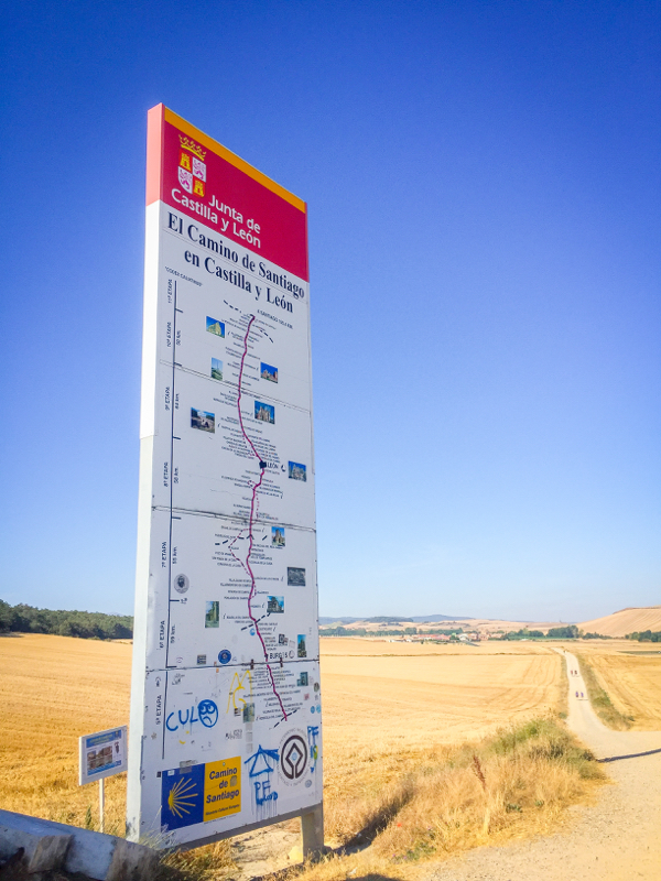 Entering Castilla y Leon on the Camino de SAntiago on eatlivetravelwrite.com
