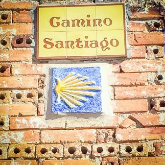 Camino sign on the Camino de SAntiago on eatlivetravelwrite.com
