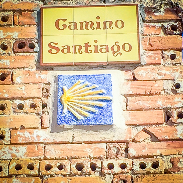 Camino sign on the Camino de SAntiago on eatlivetravelwrite.com
