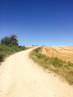 Blue skies on the Camino Frances Day 12 Belorado to Villafranca Montes de Oca on eatlivetravelwrite.com