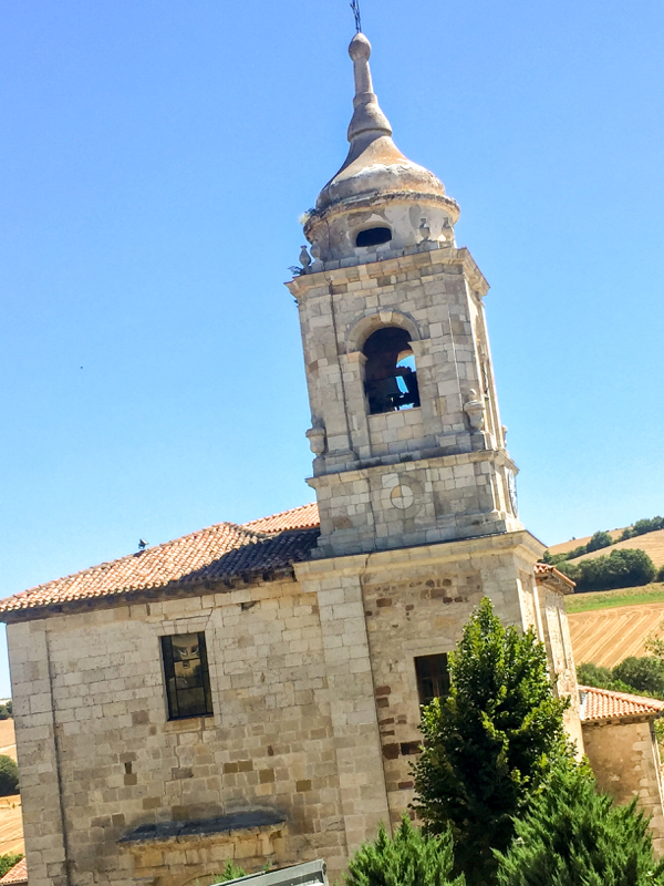 Church in in Villafranca Montes de Oca on the Camino de Santiago on eatlivetravelwrite.com