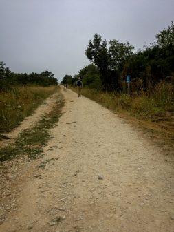 Steep incline walking the Camino de Santiago Villafranca Montes de Oca to Atapuerca on eatlivetravelwrite.com