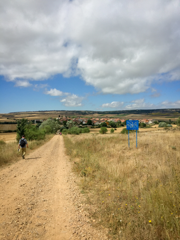 Sunny skies walking the Camino de Santiago Villafranca Montes de Oca to Atapuerca on eatlivetravelwrite.com