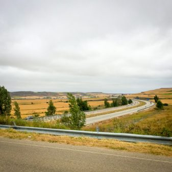 Major roads appearing walking from Atapuerca to Burgos on the Camino de Santiago on eatlivetravelwrite.com